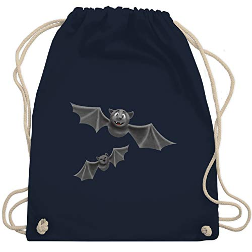 Halloween - süße Fledermäuse - Unisize - Navy Blau - WM110 - Turnbeutel & Gym Bag