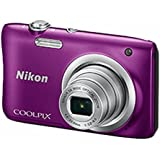 CAMARA DIGITAL NIKON COOLPIX A100 LILA - 20.1MPX - ZOOM OPTICO 5X - TFT 2.7/6.7CM - VIDEO 720P HD - ESTABIL. DIGITAL - SD - BAT