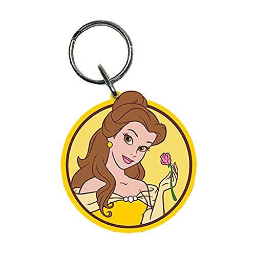 Echte Disney Princess Belle Beauty und das Biest Schlüsselanhänger aus Gummi Schlüsselanhänger (Princess Disney Belle-schmuck)