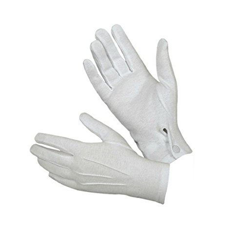 Luqiqi 1Pair weiße formale Handschuhe Smoking Honor Guard Parade Santa Männer (Kostüm Marching Band Kind's)
