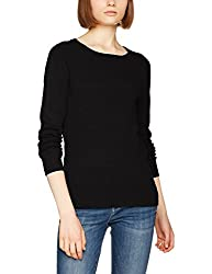VERO MODA Womens Synthetic Pullover (1956969006_Black_Medium)