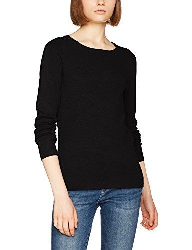 VERO MODA Damen Pullover Vmglory Fullneedle LS Blouse Noos, Schwarz (Black Black), 40 (Herstellergröße: L) - Strickmuster Damen-pullover