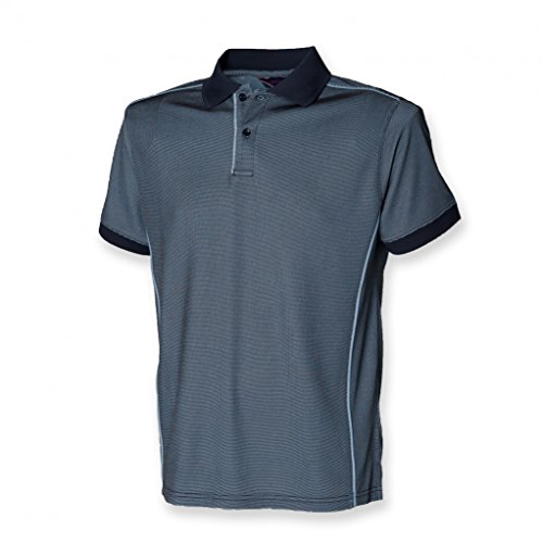Antibakterielles Coolplus® Poloshirt in Kontrastfarben Navy/Light Blue