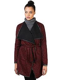 KRISP® Femmes Cardigan Veste en Maille Effet Cascade Manteau Chic Tendance A/H
