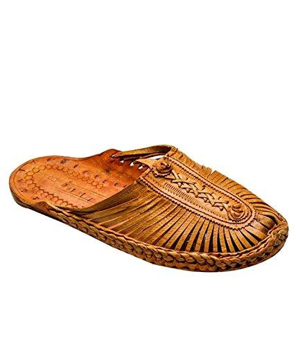 Epicshelf Brown Leather Kolapuri Mens Slippers