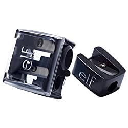 Black e.l.f. (2 Pack) Essentials Dual Pencil Sharpener Black