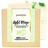 puremetics Zero Waste reinigende Gesichtspflege-Seife'Apfel Minze' | 100% natürlich, vegan &...