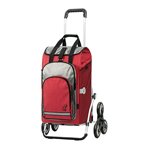 Andersen Treppensteiger Royal Shopper Hydro mit Thermofach Alu Einkaufs-Trolley (rot)