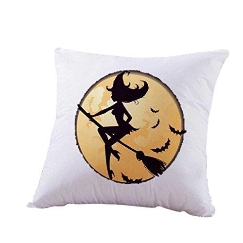 Federe cuscini,fittingran fodere per cuscini in fodera per cuscini di zucca in lino di halloween (i)