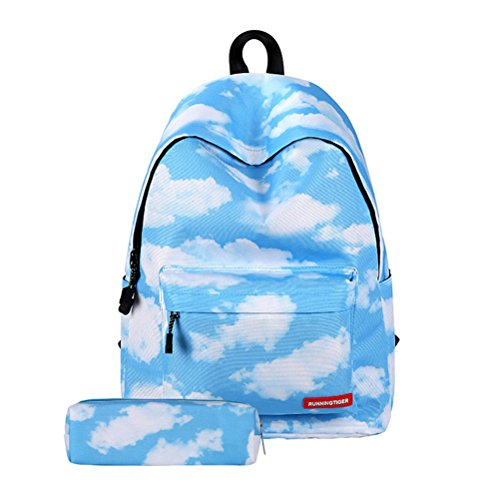 TTD Galaxy pattern ragazzi ragazze scuola borsa zaino leggero per escursioni viaggio campeggio-Stelle Cloud