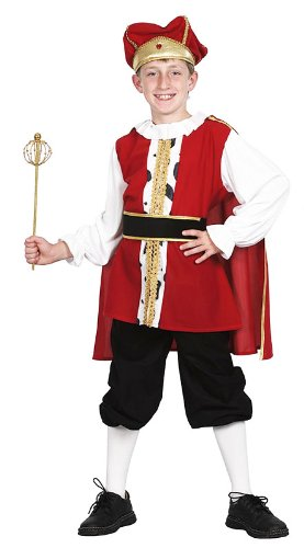 Childrens Medieval King Fancy Dress Costume Henry Viii Tudor Outfit 7-10 Yrs by Retail Zone