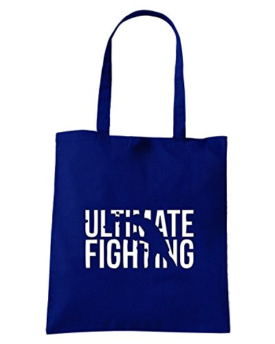 T-Shirtshock - Borsa Shopping TBOXE0062 ultimate fighting Blu Navy