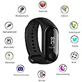 Lucrane M3 Activity Tracker Band 3 Wristband Smartwatch with Everyday Step Count, Heart Rate Monitoring for All Smart Phones/Device (Assorted Colour)