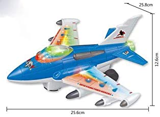TEENA'S Electric Plane with 3D Lights and Music Toddler Toy Bump and GO (Colours May Vary)