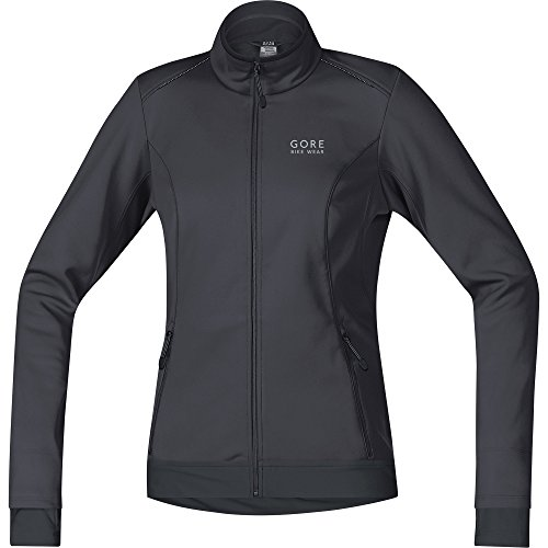 GORE BIKE WEAR, Chaqueta de ciclismo en carretera o MTB, Mujer, GORE WINDSTOPPER Soft Shell, LADY Jacket, Talla 34, Marrón/Negro, JWELML