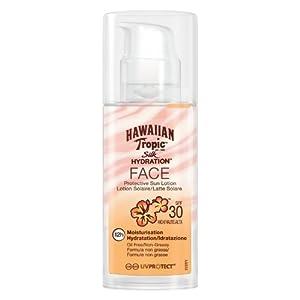 Hawaiian Tropic Silk Hydration FACE SPF 30 – Loción Solar Protectora para la Cara, Crema Hidratante Facial con Protección, Fórmula No Grasa