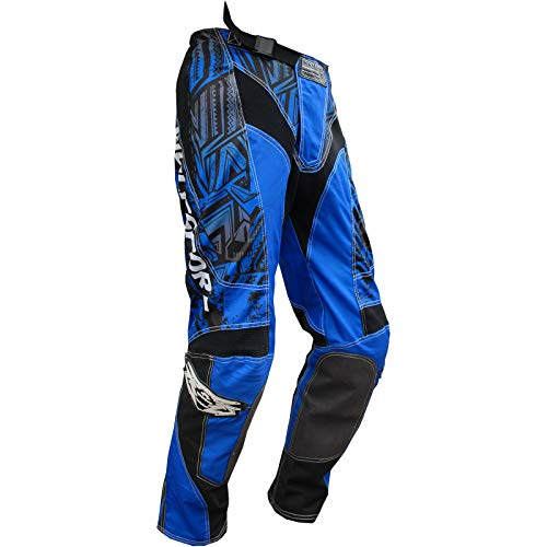 AZP192 42 - Wulf Aztec Adult Motocross Pants 42 Blue (Hose Dirt Bike 42)