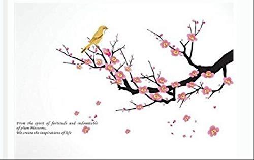 Vogelsprache Blume Duft Wandpaste Warme Familie Englische Poesie Carving Wandpaste Europäischen Und Amerikanischen Wandaufkleber 60 X 45 Cm