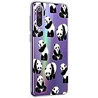 Oihxse Cristal Compatible con Xiaomi MI MIX4 Funda Ultra-Delgado Silicona TPU Suave Protector Estuche Creativa Patrón Panda Protector Anti-Choque Carcasa Cover(Panda A6)