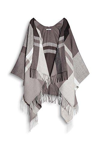 Esprit Accessoires Damen Poncho 097CA1Q012, Mehrfarbig (Grey 030), Medium