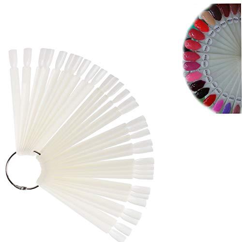 Pinkiou Nagellack Display Sticks Farbpalette Ring Nail Design Karte (Beige) -