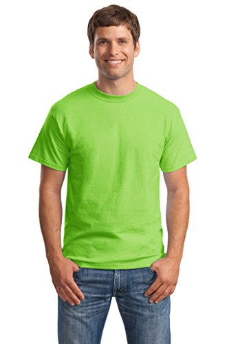 Hanes Big Mens Born to Be Worn 100% Cotton T-Shirt Lime