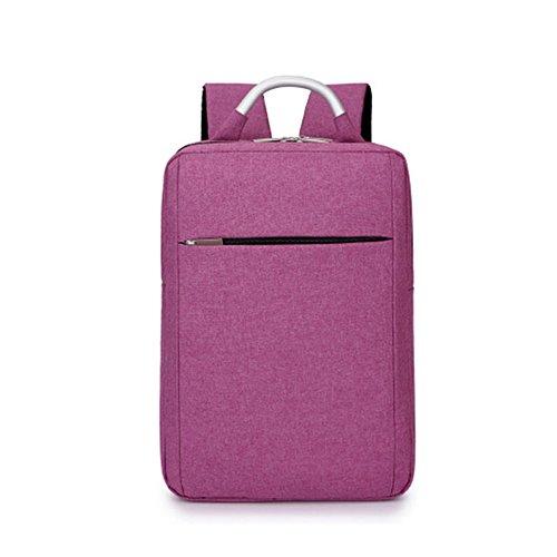 DEjh Laptop-Rucksack für die Arbeit beim Bergsteigen mit großem Fassungsvermögen für den Einsatz im Büro (Farbe : Lila)