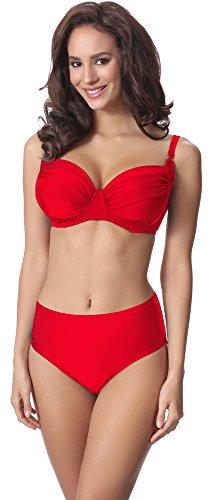 Merry Style Bikini Slip per Donna M72W Rosso