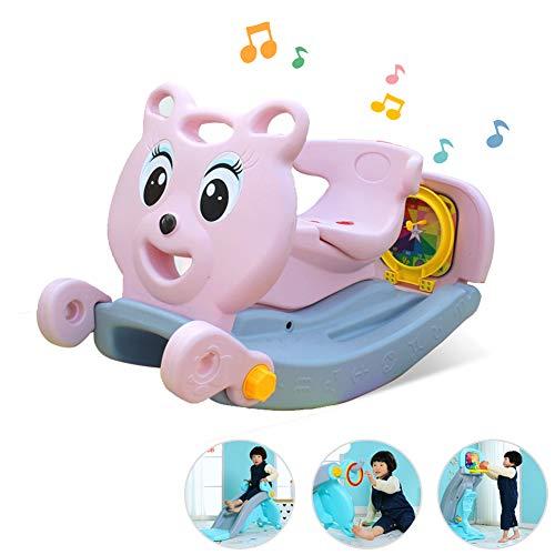 CANDYANA Kunststoff Baby Schaukelpferd Rutsche Basketball Steht Schaukelspielzeug/Baby Schaukelpferd/Rocker/Tier Fahrt auf
