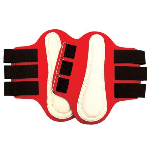 Intrepid International Splint-Boots mit Weiß Patches, groß, Rot -