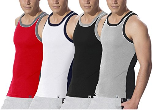 Jockey Sports Fashion Power Vests - Assorted Pack Of 4 (colors May Vary)