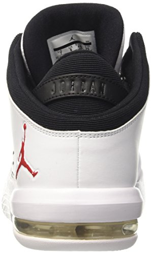 Nike Jordan Flight Origin 4, Scarpe da Basket Uomo Bianco (White/Gym Red/Black)