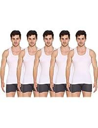VIP Supreme Men's Sleeveless Cotton Vest (Pack of 5)