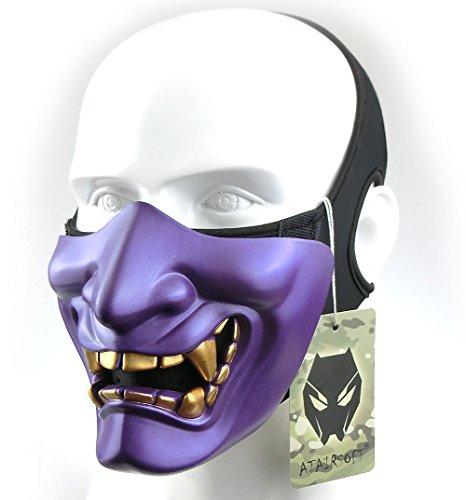 Máscara para disfraz de halloween, demonio, diablo, monstruo, kabuki, samurai, hannya, oni