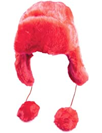 Schicke Damen Wintermütze mit Fell und Pompons