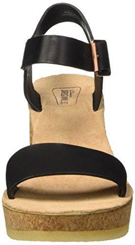 Clarks Jayda Parade, Sandales Bride cheville femme Noir (Black Leather)
