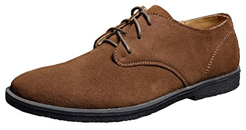 fangsto-mens-fashion-suede-oxfords-flat-shoes-lace-ups-uk-size-9-brown