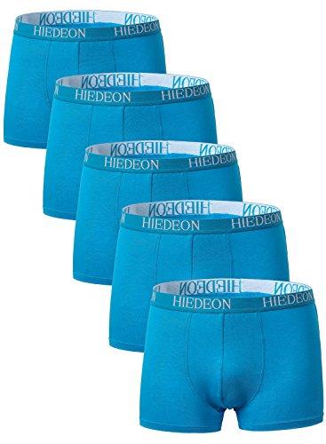 Miedeon Herren 5-er Packatmungsaktive Boxershorts aus Bambus mit Fliege Gr. XL, blau (Fliegen Unterwäsche)