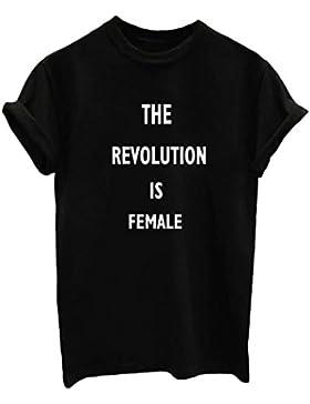 [Patrocinado]Mujeres Impresión De La Manga Corta Verano Camiseta Flojas Tops Camisetas