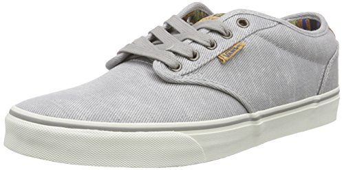 Vans Herren Atwood Deluxe Low-top, Grau (Washed Twill/Gray/Marshmallow), 41 EU
