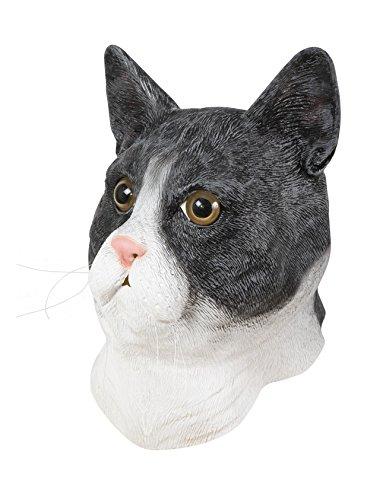 P 'tit Clown 41581Maske Erwachsene Latex Integralhelm Katze, Einheitsgröße (Katze Maske Latex)