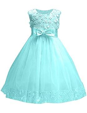 Abito Bambina Principessa Vestito da Cerimonia per la damigella Bowknot Floreale Abiti per la Matrimonio Carnevale...