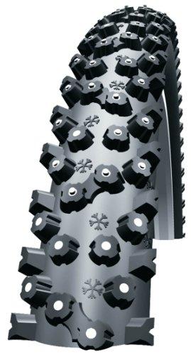 SCHWALBE ICE SPIKER   CUBIERTA (TECNOLOGIA KEVLARGUARD  26 X 2 1 PULGADAS  980 G  DIAMETRO Y ANCHURA INTERIOR: 559 X 54 MM)  COLOR NEGRO
