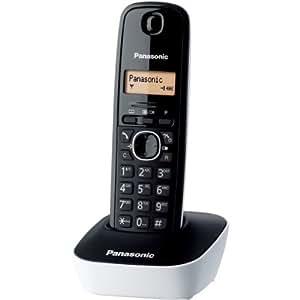 Panasonic KX-TG1611FRW Téléphone solo sans fil DECT sans répondeur Blanc
