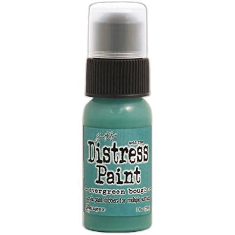 Tim Holtz Distress Paint 1oz bottiglia-Evergreen Bough