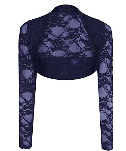Generic - Boléro - Femme Multicolore Bigarré Taille Unique Bleu Marine