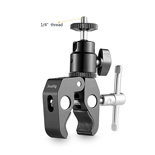 SmallRig Super Rod Clamp with Ball-head Mount for Monitor, LED light -1124 Aluminium Ball-mount