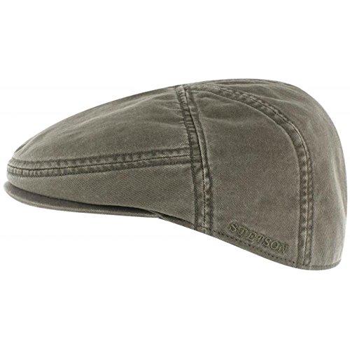 Stetson Paradise Cotton Schirmmütze Oliv-grün Herren | Flatcap mit UV-Schutz 40+ | Herrenmütze aus Baumwolle | Flat Cap Größen M 56-57 cm | Schiebermütze Sommer/Winter