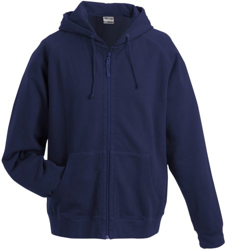 J&N - klassische Unisex Sweater-Kapuzenjacke (JN059) Marine