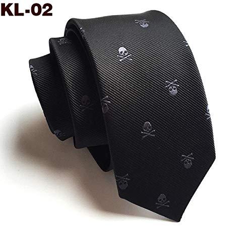 GLMXJJ Halloween Tie 1200 New 6Cm Narrow Edition Schädelkopf Halloween Tie Ghost Festival Tie @ Kl-02